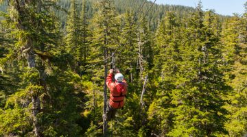 Zip lining in Whistler, Canada